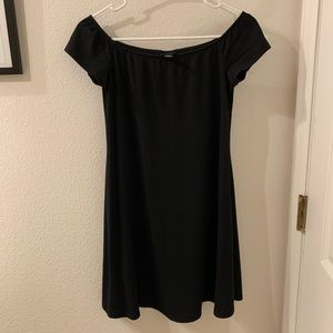 Little black off the shoulder dress